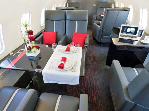 AMAC hat eine Global Express Kabine mit dem eigenen Design erneuert