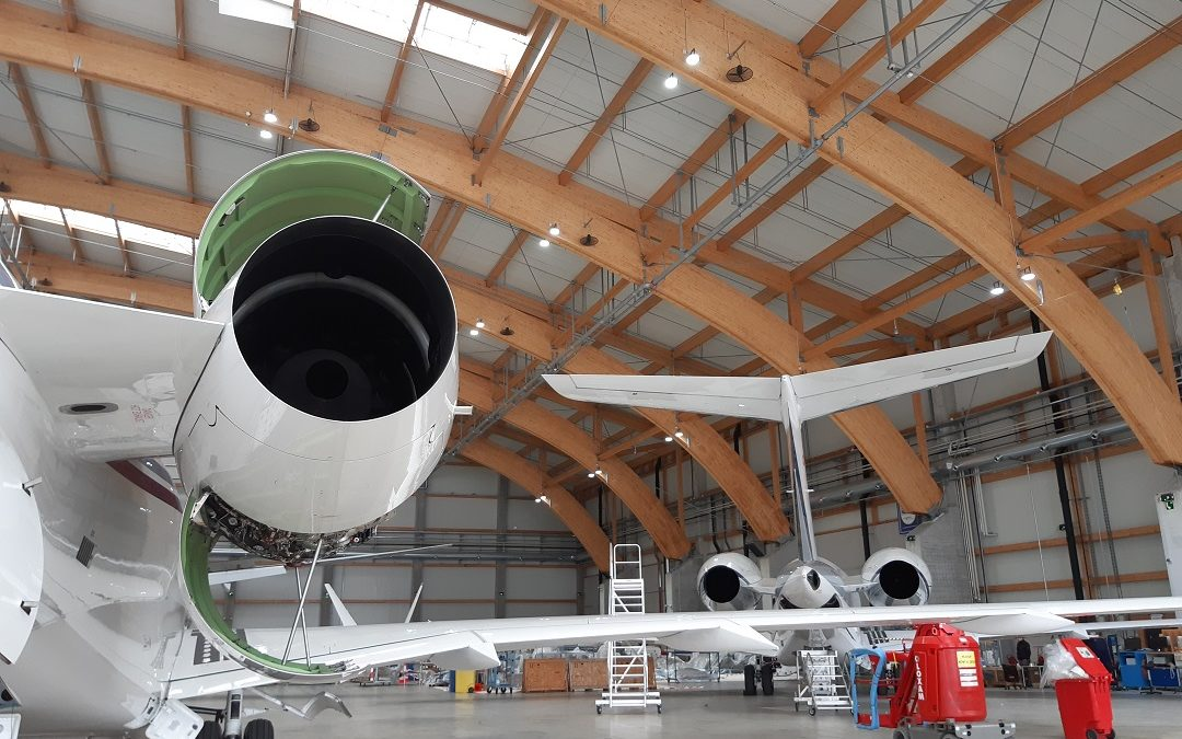 Completed maintenance project on a Bombardier Global 6000