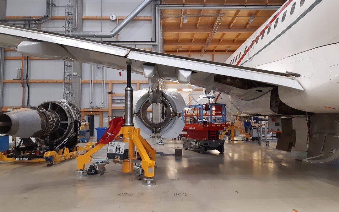 New awarded Heavy Maintenance Check on an Airbus ACJ319
