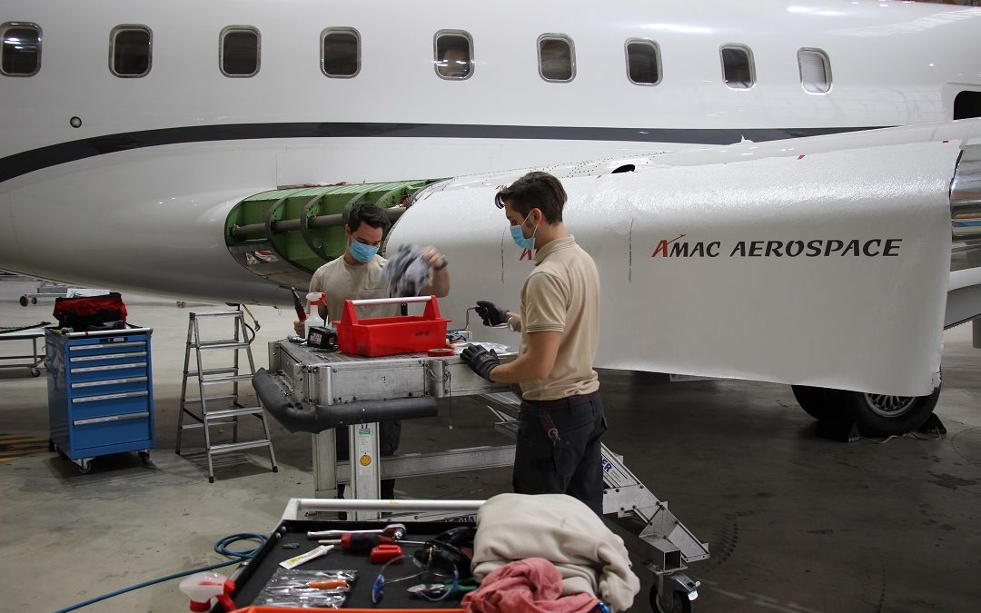 Middle Slat Replacement on a Bombardier Global 6000
