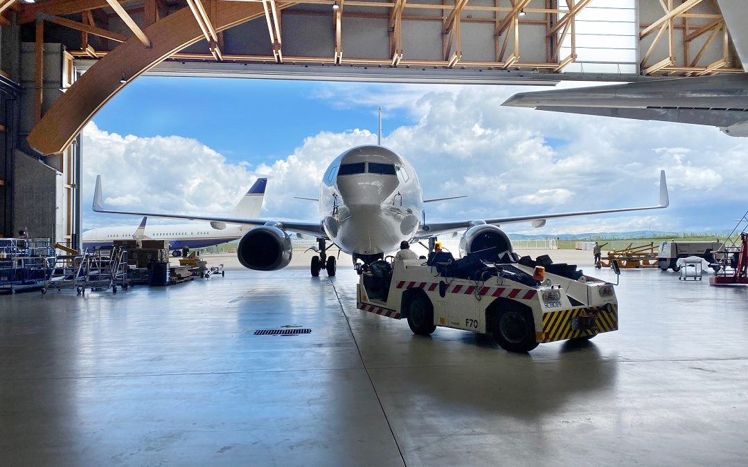 New awarded 12-year check on a BBJ B737