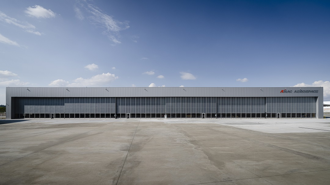 A Hive of Activity: Two new Bombardier Aircraft arrived at hangar 5