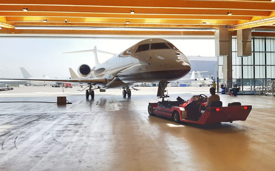 Completed Base Maintenance on Bombardier Global 7500