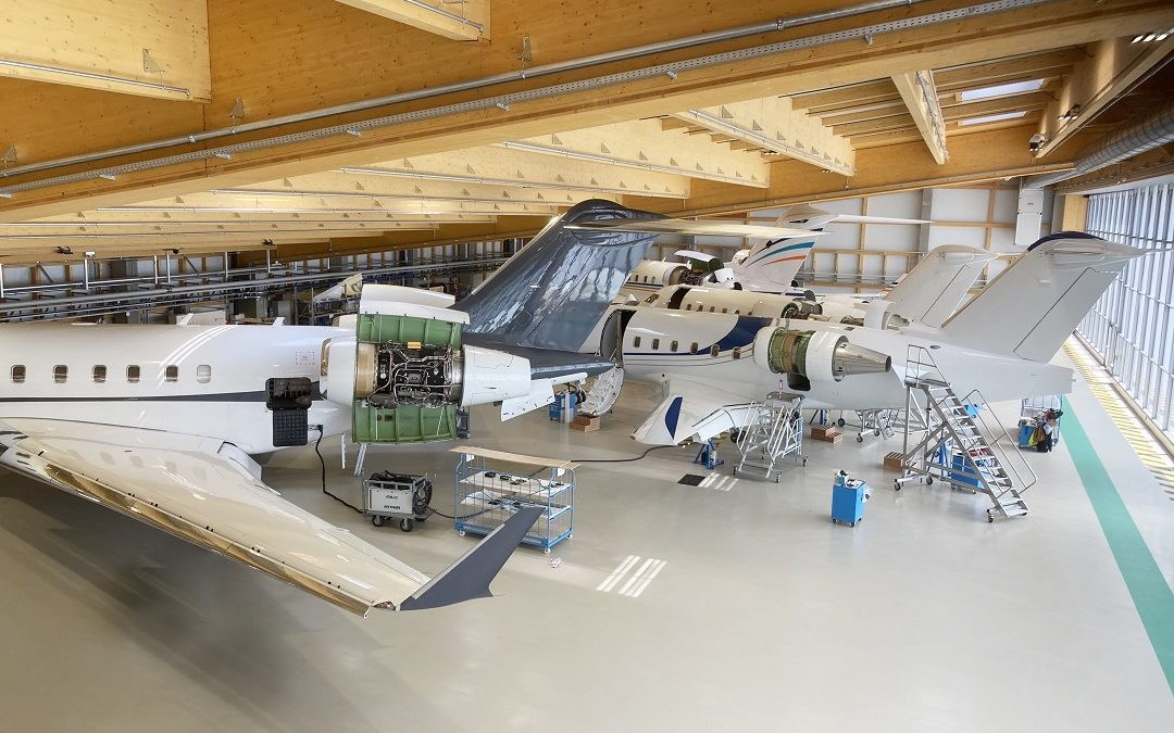 Maintenance inputs completed on three Bombardier Global 6000